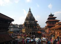 drukke uitzicht Durbar Square - Patan - Nepal