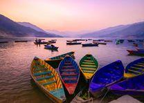 Phewa lake, Pokhara, bootjes meer - Nepal