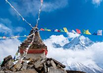 Boeddhistische Stupa Everest regio - Nepal - foto: Archief