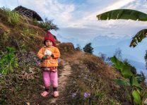 Sarangkot meisje - Sarangkot - Nepal - foto: Archief