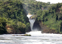 Murchison Falls falls bottom - oeganda
