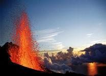 vulkaan uitbarsting - Reunion - Réunion