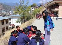 schoolkinderen bezoek project - Bhutan