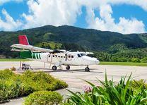 Vliegtuig bij Grand Anse - Grand Anse - Seychellen - foto: Archief