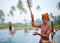 Visser met visdraad - Sri Lanka