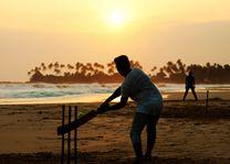 Cricket aan het strand - Sri Lanka - foto: Archief