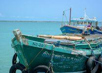 boot op pier in Jaffna - Jaffna - Sri Lanka - foto: Mieke Arendsen