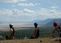 uitzicht Lake Manyara met mountainbike - Lake Manyara - Tanzania