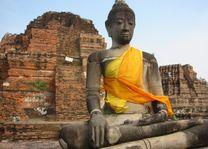zittende boeddha - Ayutthaya - Thailand