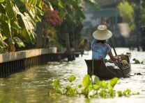 boot in kanaal - Bangkok - Thailand - foto: Lokaal agent
