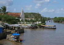 Vietnam - Mekong Delta - uitzicht over de delta - foto: Daniel de Gruiter