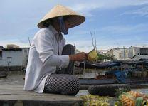 fruit verkoopster - Mekong Delta - Vietnam