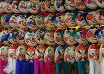 maskers op markt - Hanoi - Vietnam