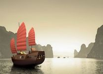 boot in Halong Bay - Halong Bay - Vietnam - foto: lokaal agent