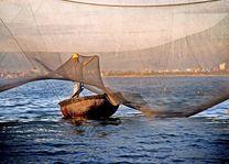 visser met visnet - Nha Trang - Vietnam