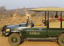 Met de jeep in het Kololo Game Reserve - Kololo Lodge - Zuid-Afrika - foto: Kololo Lodge