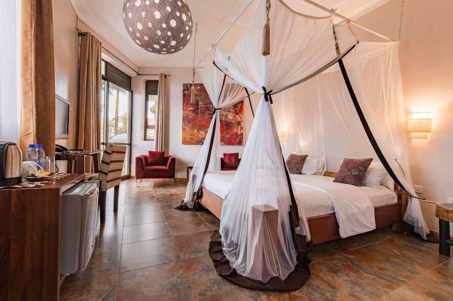 2 Friends Beach Hotel - slaapkamer - Entebbe - Oeganda - foto: 2 friends beach hotel