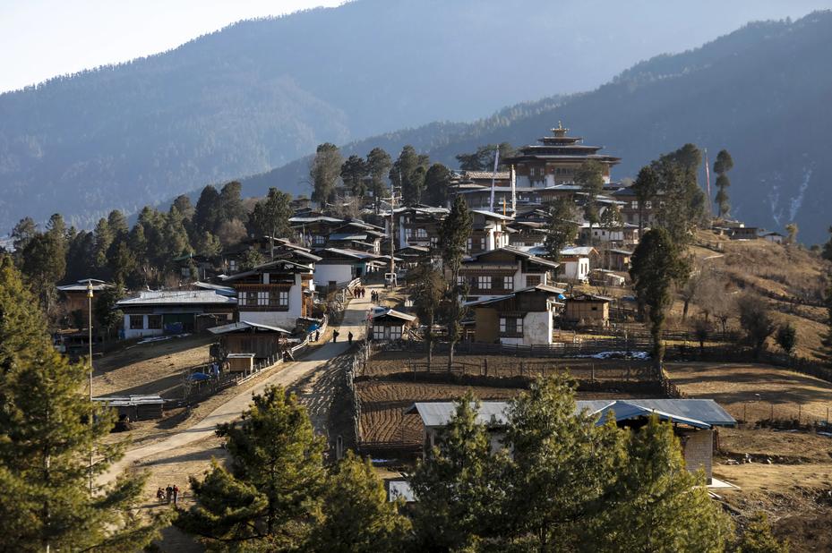 Amankora Gangtey village dorp Gangtey Bhutan - foto: Amankora Gangtey