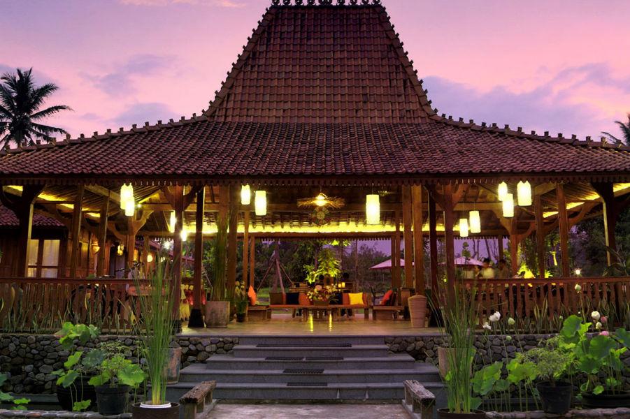 Amata Borobudur Resort - restaurant -Borobudur - Java - Indonesie - foto: Amata Borobudur Resort