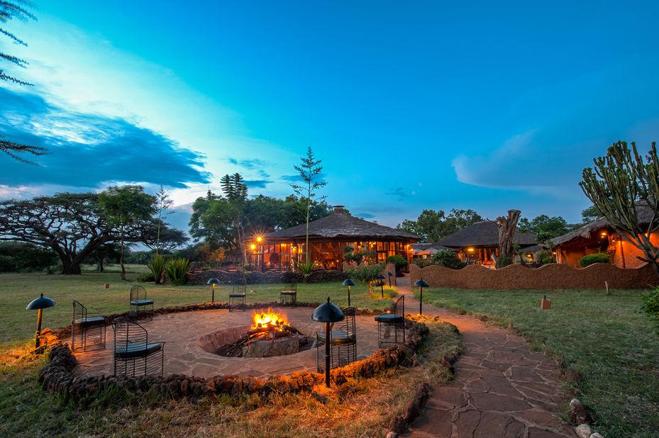 Amboseli Sopa Lodge - tuin - Amboseli National Park - Kenia - foto: Sopa Lodges