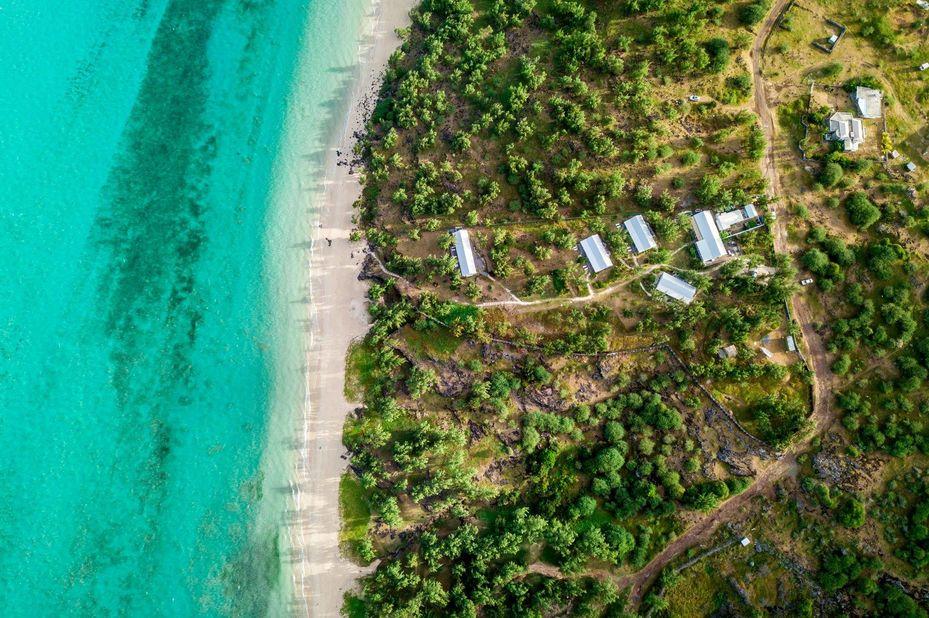 Bakwa Lodge - luchtfoto - Rodrigues - foto: Bakwa Lodge