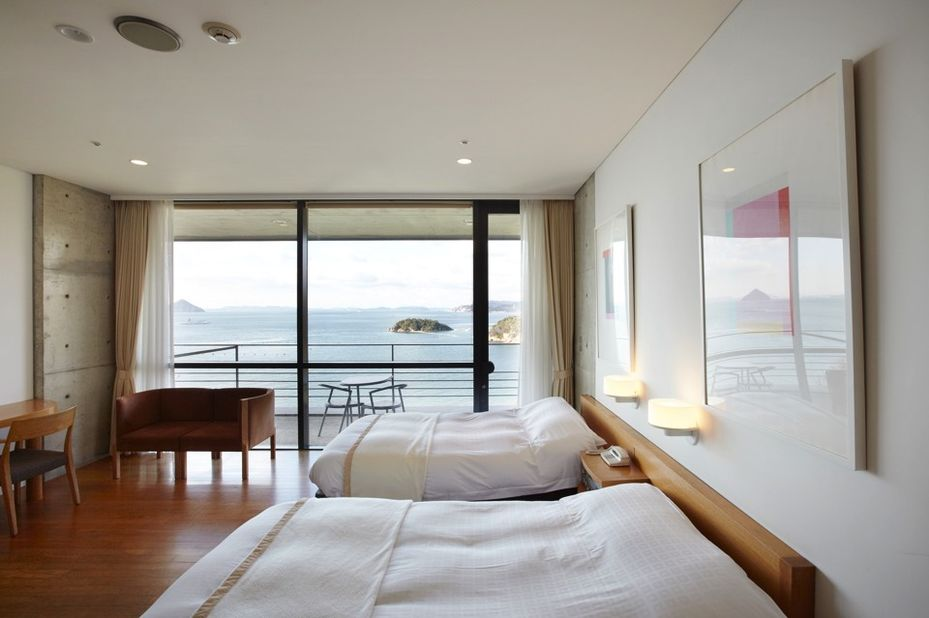 Benesse House - kamer - Naoshima - Japan - foto: Benesse House