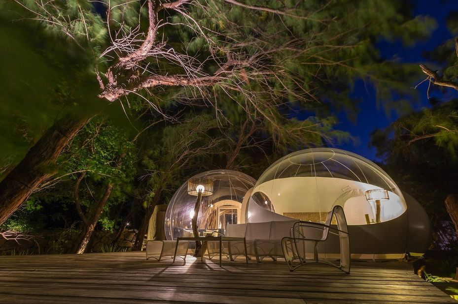 Bubble Lodge - Ile aux Cerfs - tent exterior - Mauritius - foto: Bubble Lodge Ile aux Cerfs