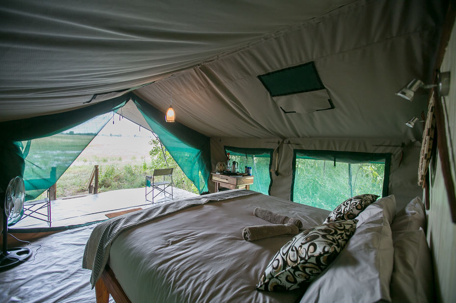 Bushman Plains Camp - kamer - Okavango Delta - Bostwana - foto: Bushman Plains Camp