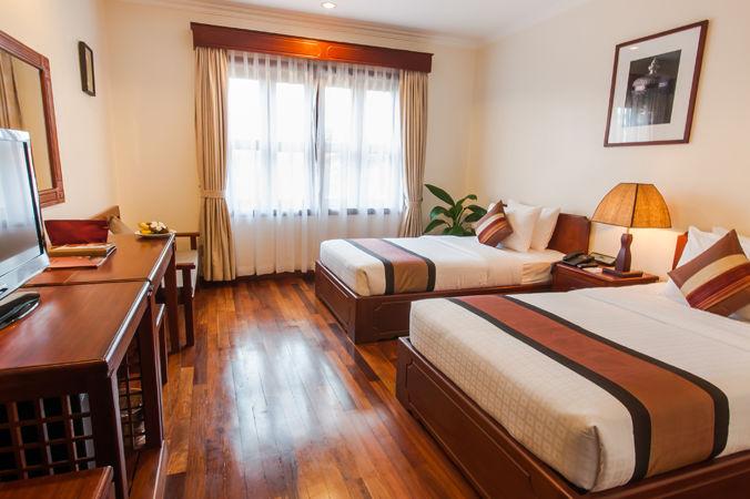 Cambodja - Siem Reap - Saem Siemreap Hotel - deluxe city room - twin - foto: Saem Siemreap Hotel