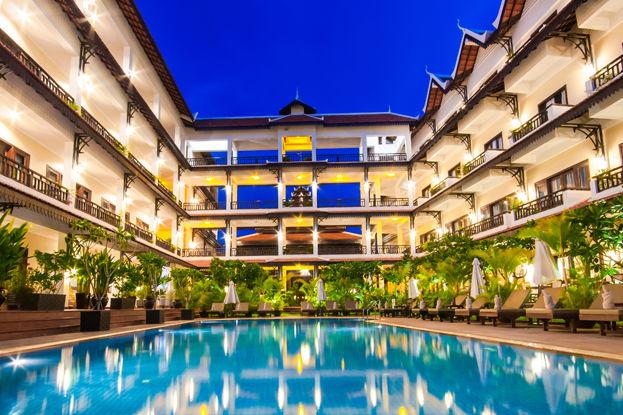 Cambodja - Siem Reap - Saem Siemreap Hotel - zwembad - foto: Saem Siemreap Hotel