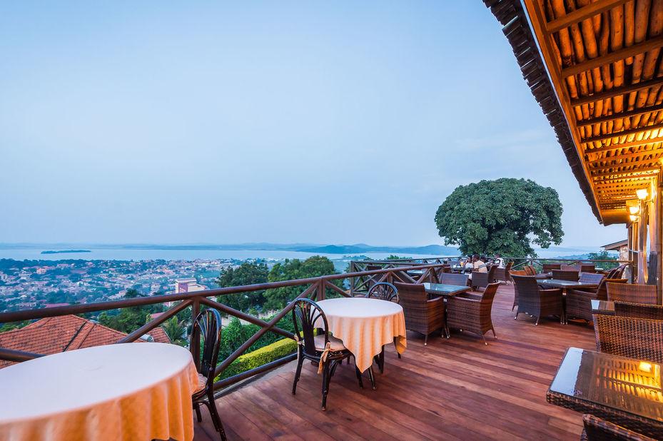 Cassia Lodge - Kampala - terras - Oeganda - foto: Cassia Lodge