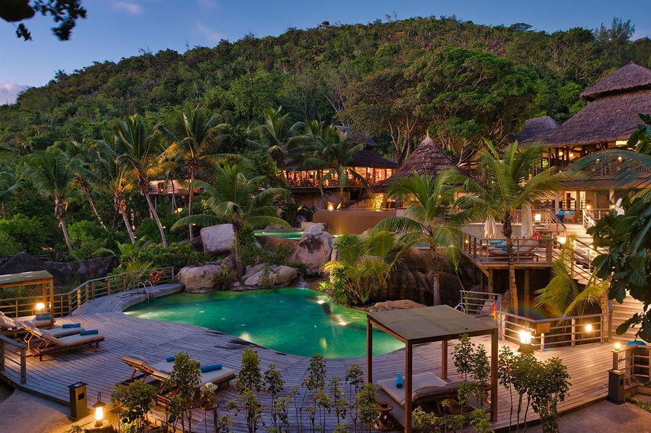 Constance Lemuria Resort - zwembad - Praslin - Seychellen - foto: Constance Lemuria