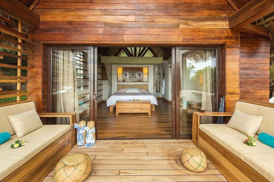 Constance Tsarabanjina Lodge - terras - Madagaskar - foto: Constance Tsarabanjina Lodge