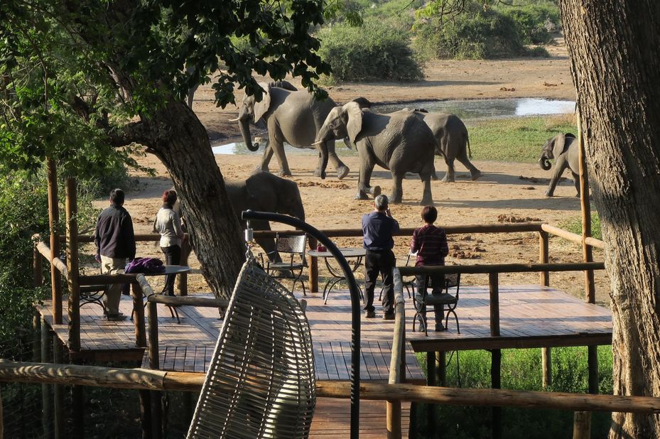 Elephant Valley Lodge - view deck - Chobe - Botswana - foto: Elephant Valley Lodge