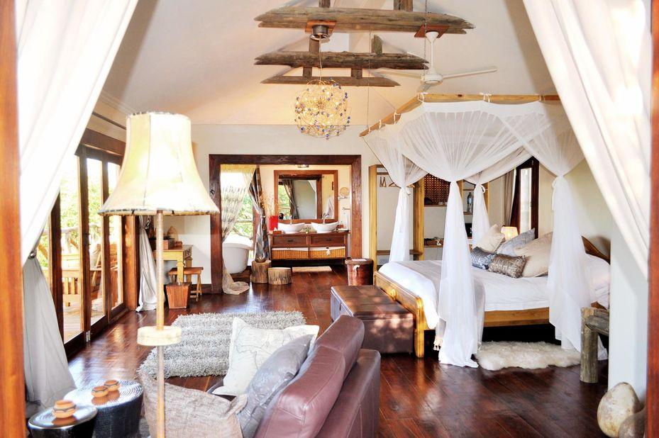 Escarpment Luxury lodge - kamer interieur - Manyara - Tanzania - foto: Escarpment Luxury Lodge