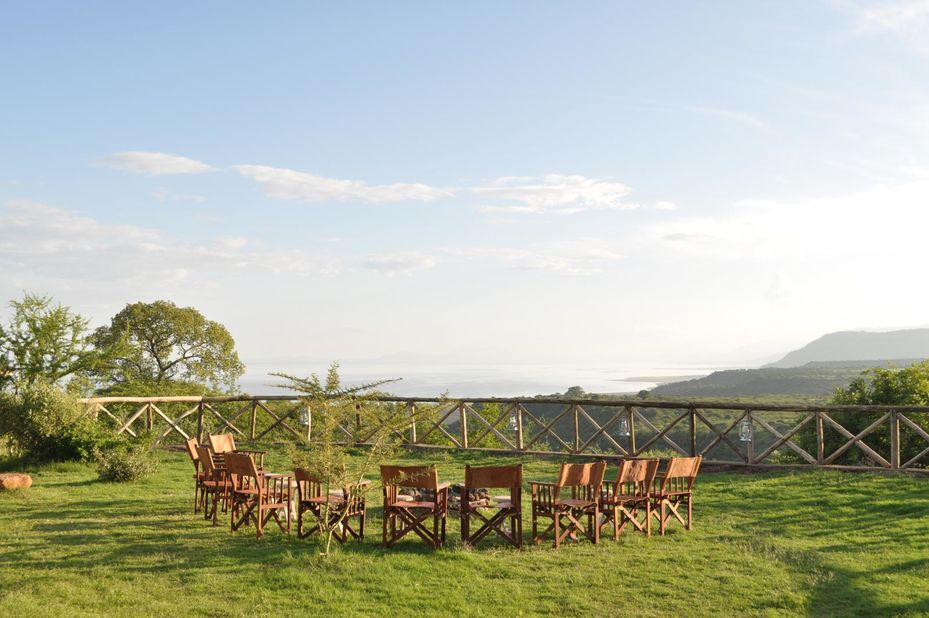 Escarpment Luxury lodge - kampvuur - Manyara - Tanzania - foto: Escarpment Luxury Lodge