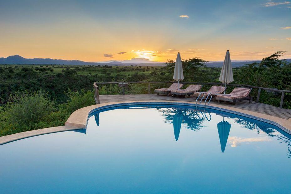 Escarpment Luxury lodge - zwembad - Manyara - Tanzania - foto: Escarpment Luxury Lodge