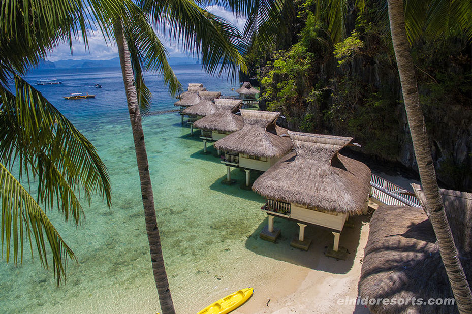 Filipijnen - El Nido Resorts - Miniloc Island - Water Cottages - copyright: El Nido Resorts - foto: El Nido Resorts Miniloc Island