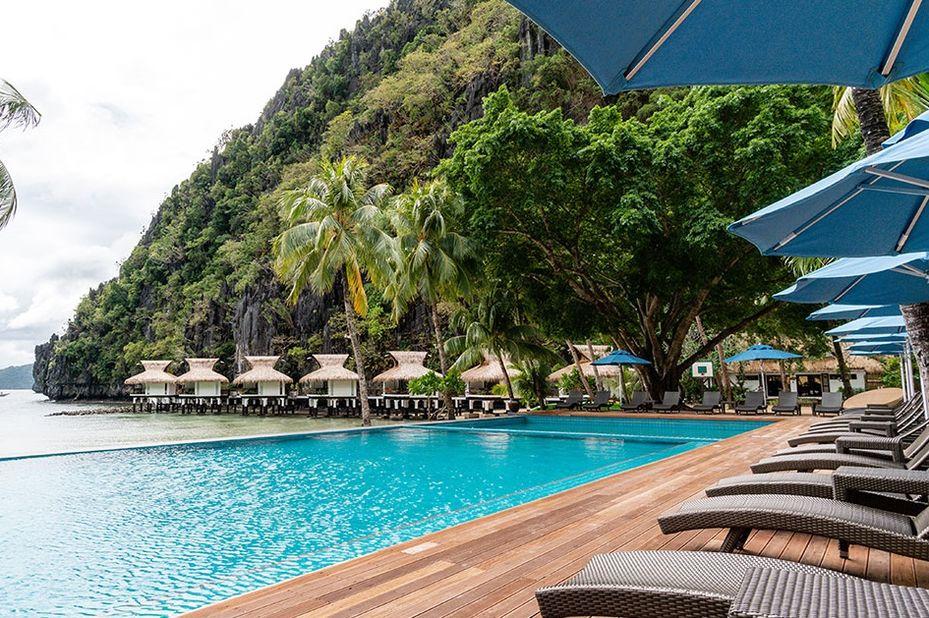 Filipijnen - El Nido Resorts - Miniloc Island - zwembad - copyright: El Nido Resorts - foto: El Nido Resorts Miniloc Island