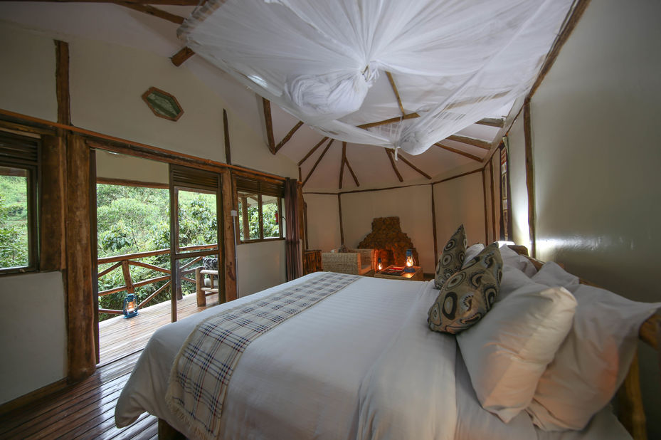 Gorilla Safari Lodge - slaapkamer - Bwindi - Oeganda - foto: Gorilla Safari Lodge