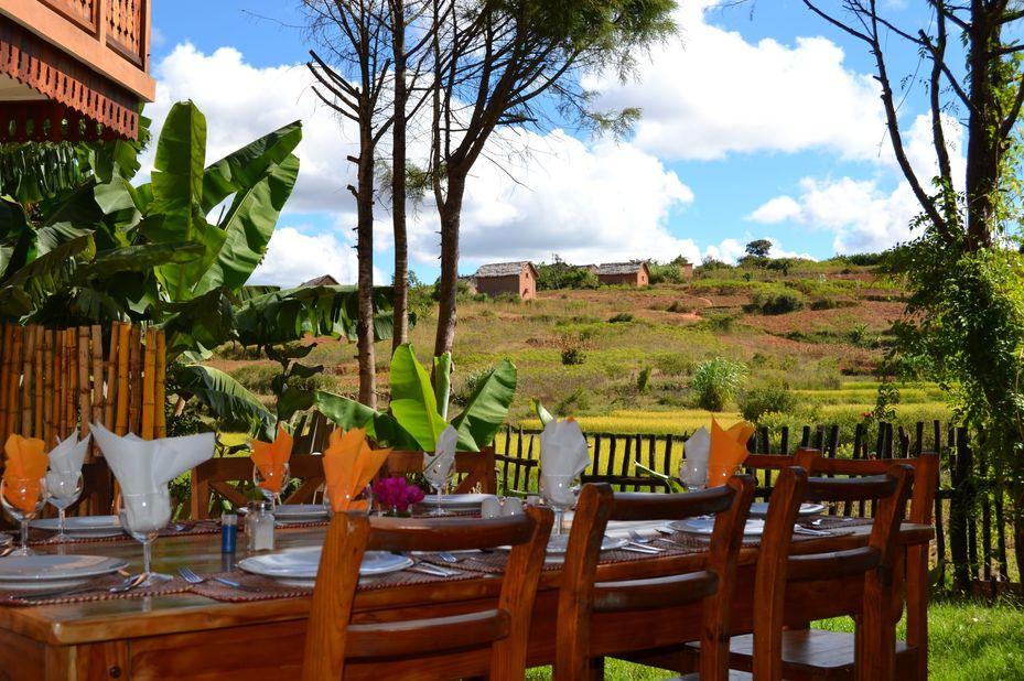 Hotel Ambalakely - diner - Fianarantsoa - Madagaskar - foto: Hotel Ambalakely