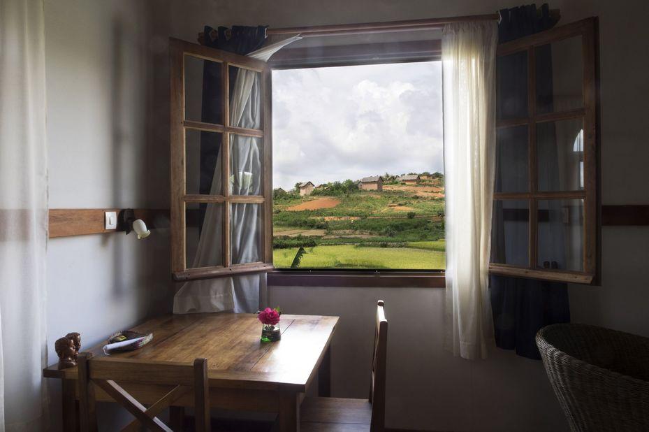 Hotel Ambalakely - uitzicht - Fianarantsoa - Madagaskar - foto: Hotel Ambalakely