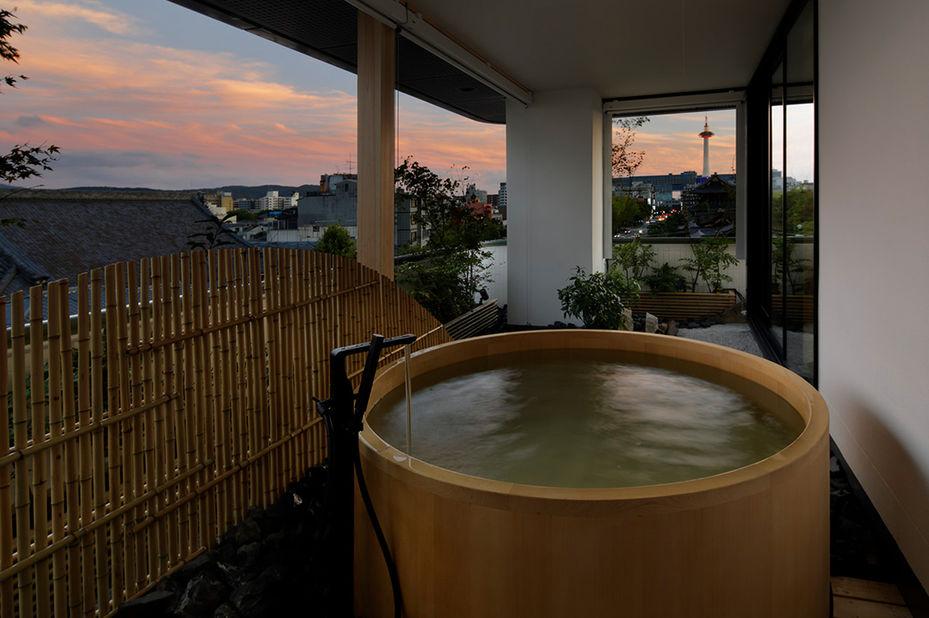 Hotel Kanrya Kyoto - prive onsen -Kyoto - Japan - foto: Hotel Kanra Kyoto