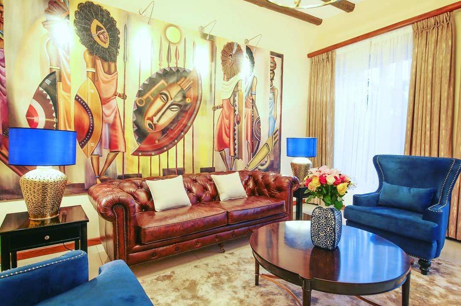 Hotel No 5 - lounge - Entebbe - Oeganda - foto: Hotel No. 5