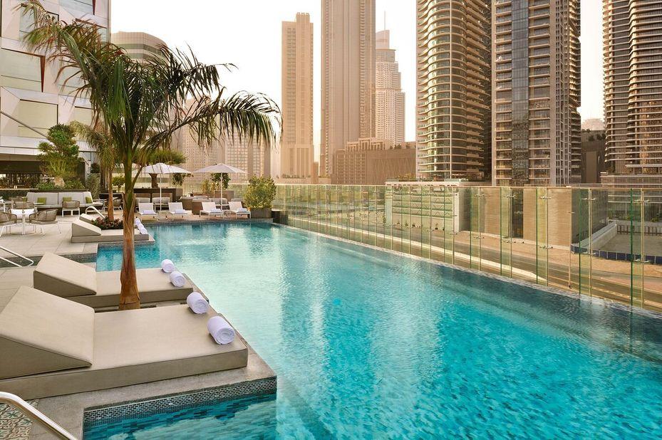 Hotel Indigo - Zwembad - Dubai - Azie - foto: Hotel Indigo Dubai Downtown
