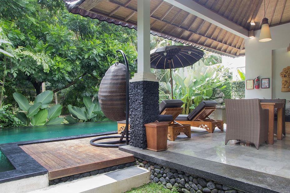 Indonesie-Bali-Ubud-Kajane-Mua-Hotel-buiten-verblijf - foto: Kajane Mua