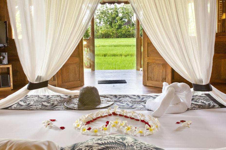 Indonesie-Bali-Ubud-Kajane-Mua-Hotel-slaapkamer - foto: Kajane Mua