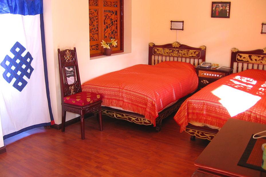 Jims Tibetan hotel - kamer - Dali - China - foto: Jims Tibetan Hotel