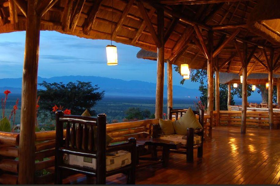 Katara Lodge - main area - Queen Elizabeth - Oeganda - foto: Katara Lodge