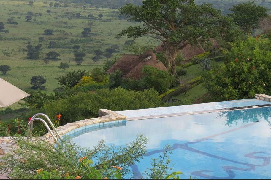 Katara Lodge - zwembad - Queen Elizabeth - Oeganda - foto: Katara Lodge